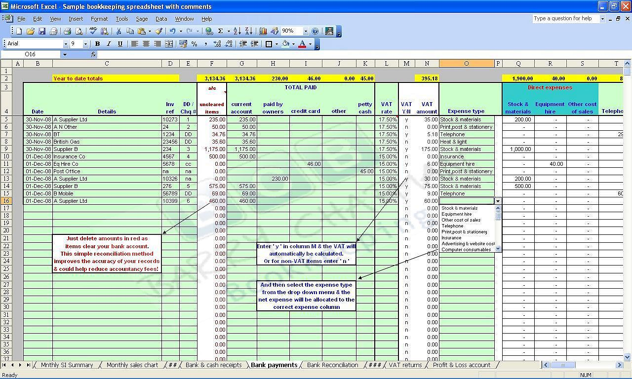 Self employed expenses spreadsheet template zrom maxwellsz